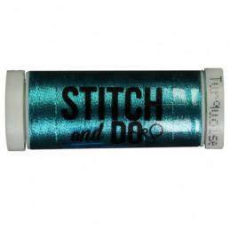 Fils à broder Stitch and Do Métal Turquoise bobine de 200m