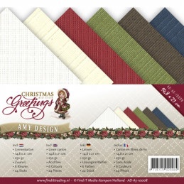 Set 24 feuilles  Amy Design - Christmas greetings A5 14.8 x 21 cm