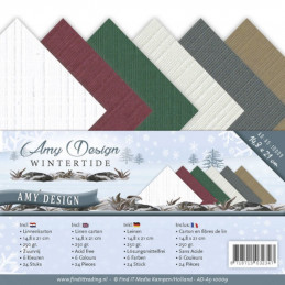Set 24 feuilles  Amy Design - Wintertide A5 14.8 x 21 cm