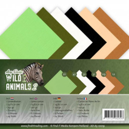 Set 24 feuilles  Amy Design - Wild animals A5 14.8 x 21 cm