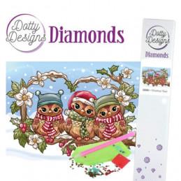 Broderie Diamant - Chouette à Noël