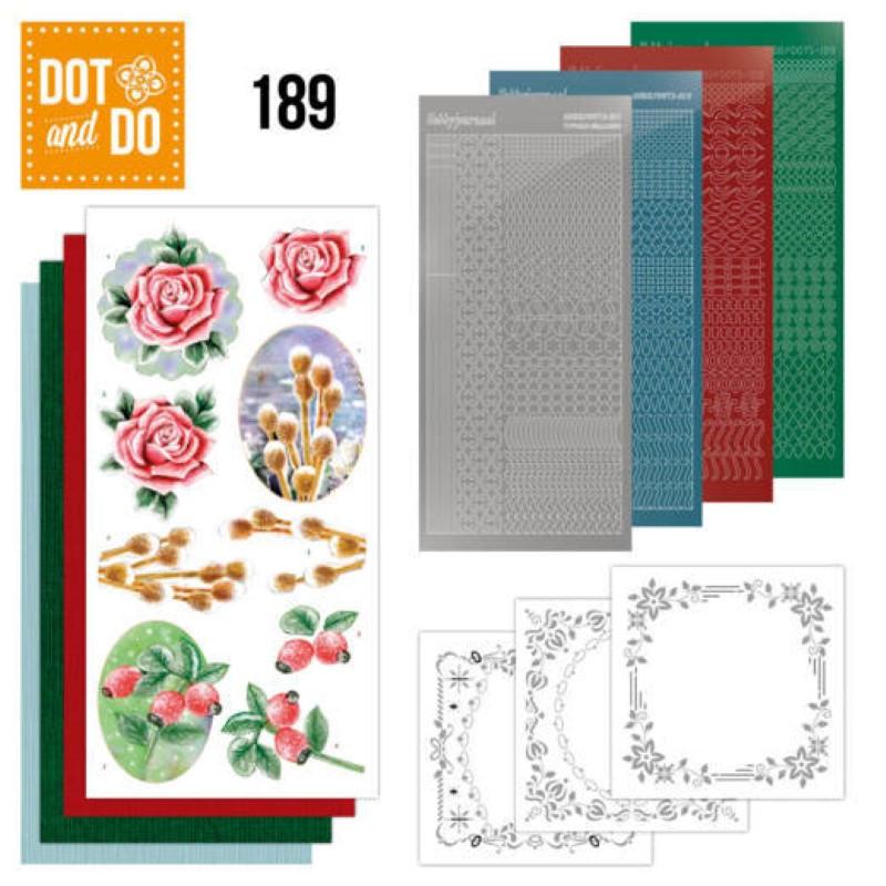 Dot and do 189 - kit Carte 3D  - Fleurs d'hiver