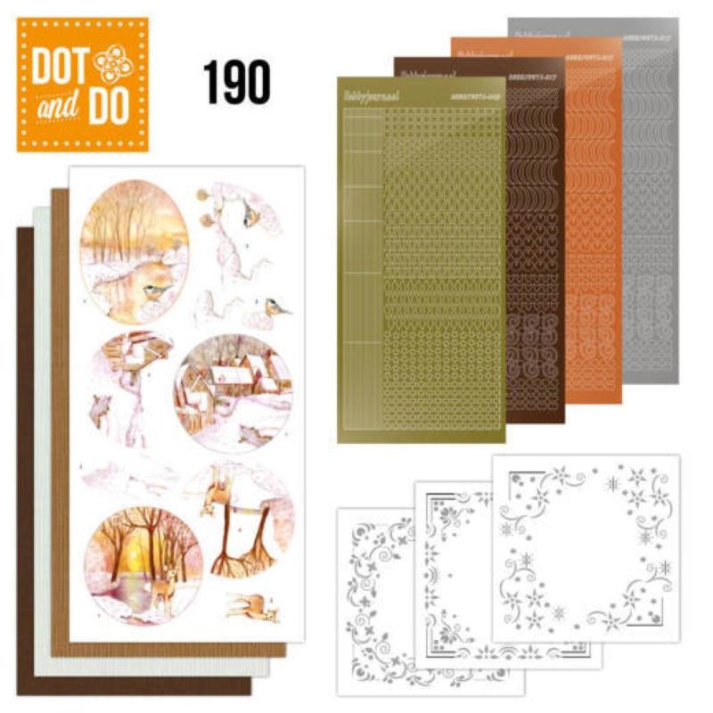 Dot and do 189 - kit Carte 3D  - Forêt en hiver