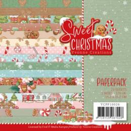 Bloc de papier - Yvonne Créations - Sweet  Christmas 15 x 15 cm