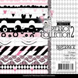 Bloc de papier - Yvonne Créations - Pretty Pierrot 2 15 x 15 cm