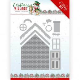 Dies - Yvonne Creations - Christmas village - Maison à fabriquer