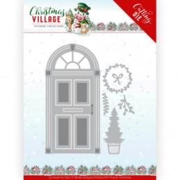 Dies - Yvonne Creations - Christmas village - Porte à Noël YCD10210