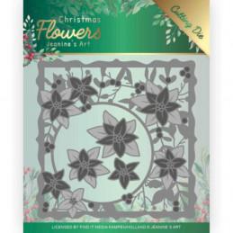 Die - Jeaninnes art - JAD10102 - Christmas flowers - Cadre poinsettias