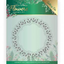 Die - Jeaninnes art - JAD10103 - Christmas flowers - Cercle de houx