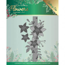 Die - Jeaninnes art - JAD10105 - Christmas flowers - Bordure poinsettia