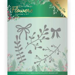Die - Jeaninnes art - JAD10106 - Christmas flowers - Branche de gui
