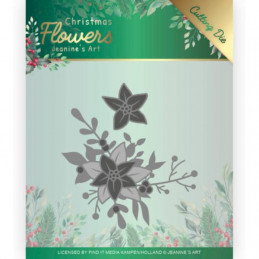 Die - Jeaninnes art - JAD10107 - Christmas flowers - Coin poinsettia