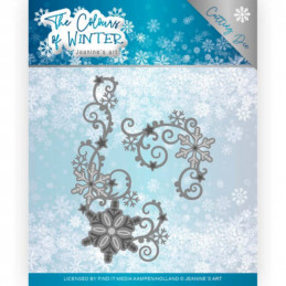 Die - Jeaninnes art - JAD10109 - Colours of winter - Arabesque de flocons