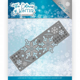 Die - Jeaninnes art - JAD10110 - Colours of winter - Bordure flocons