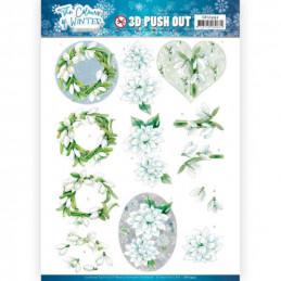 Carte 3D prédéc. - SB10492 - Colours of winter - Fleurs blanches