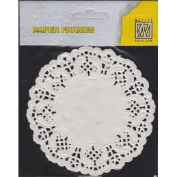 Napperon en papier dentelle - rond 11.5 cm 12pcs