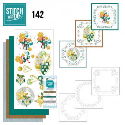 Stitch and do 142 - kit Carte 3D broderie - Boules de Noël