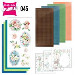 Kit Sparkles Set 45 - Fleurs d'hiver roses