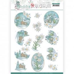 Carte 3D prédéc. - SB10503 - Winter time - Edelweiss
