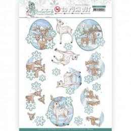 Carte 3D prédéc. - SB10504 - Winter time - Petits rennes