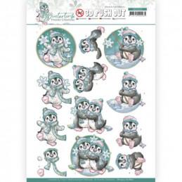 copy of Carte 3D prédéc. - SB10505 - Winter time - Petits pingouins