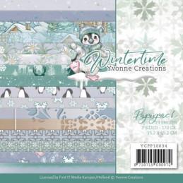 Bloc de papier - Yvonne Créations - Winter time 15 x 15 cm - YCPP10034