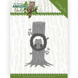 Die - ADD10218 - Amazing Owls - Chouette dans un arbre 7.7 x 12 cm