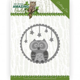 Die - ADD10219 - Amazing Owls - Chouette étoilée 5.5 x 5.5 cm