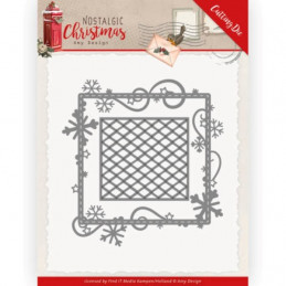 Die - ADD10221 - Nostalgic Christmas - Cadre Flocons 10.5 x 11 cm