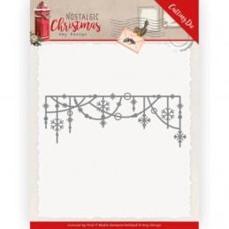 Die - ADD10224 - Nostalgic Christmas - Guirlande de flocons 12.5 x 4.5 cm