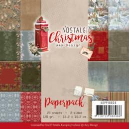 Bloc de papier - Amy Design - Nostalgic Christmas 15.2 x 15.2