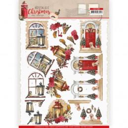 Carte 3D à découper - CD11561 - Nostalgic Christmas - Noël chaleureux