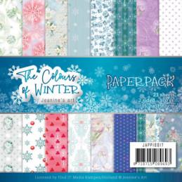 Bloc de papier - Jeanine art - Colours of winter 15.2 x 15.2