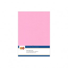 Carte 14.5 x 21 cm uni Rose paquet de 10