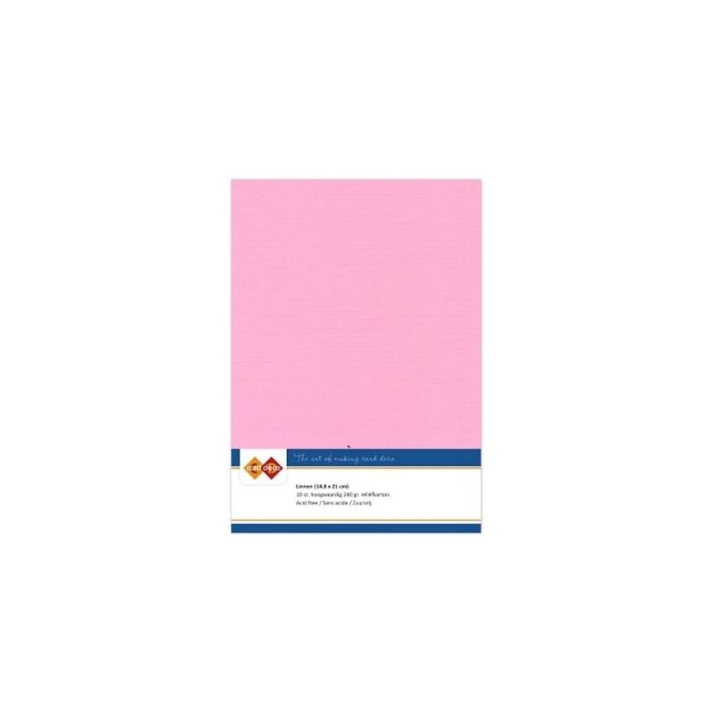 Carte 14.5 x 21 cm uni Rose paquet de 10