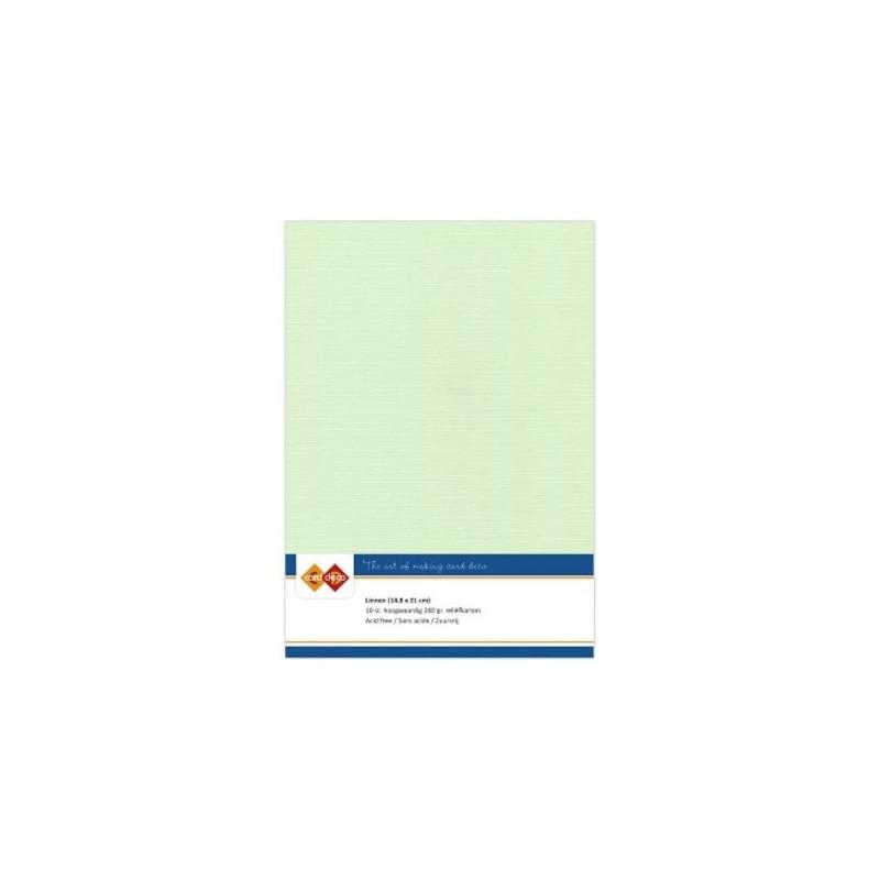 Carte 14.5 x 21 cm uni Vert clair paquet de 10
