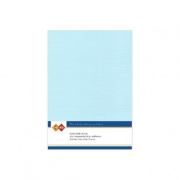 Carte 14.5 x 21 cm uni Bleu baby paquet de 10