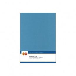 Carte 14.5 x 21 cm uni Turquoise paquet de 10