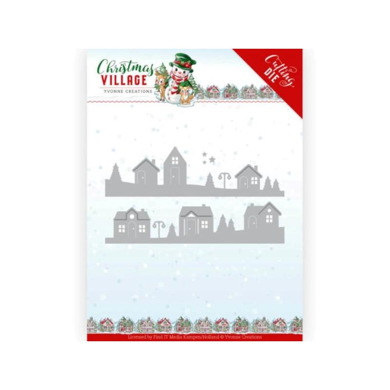 Dies - Yvonne Creations - Christmas village - Maisons