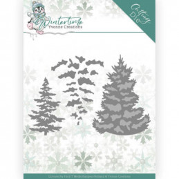 Dies - Yvonne Creations - Winter Time - Sapins - YCD10216