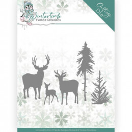 Dies - Yvonne Creations - Winter Time - Rennes en forêt - YCD10217