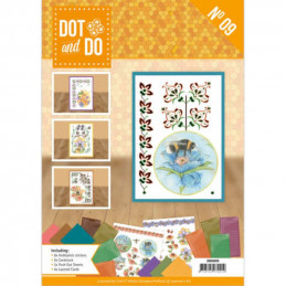 Dot and do Livre n°9 - Kit Carte 3D - Jeanine's Art Fleurs et abeilles
