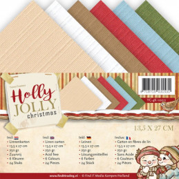 Set 24 cartes Yvonne Creations - Holly Jolly 13.5x27cm