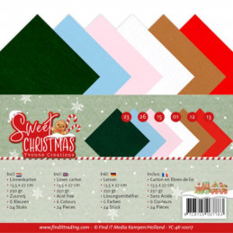 Set 24 cartes Yvonne Creations - Sweet Christmas 13.5x27cm