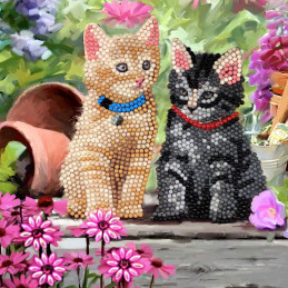Kit Carte broderie diamant 18x18cm Chatons