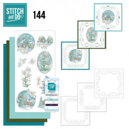 Stitch and do 144 - kit Carte 3D broderie - Edelweiss