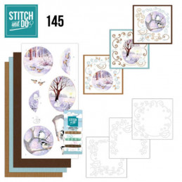 Stitch and do 145 - kit Carte 3D broderie - Paysage d'hiver
