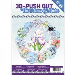 Carte 3D livre A4 prédécoupé - Les couleurs de l'hiver  24 images + papiers