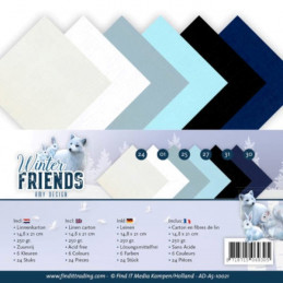 Set 24 feuilles  Amy Design - Winter friends A5 14.8 x 21 cm