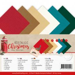 Set 24 feuilles  Amy Design - Nostalgic Christmas A5 14.8 x 21 cm
